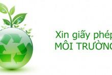 Xin giấy phép bảo vệ môi trường